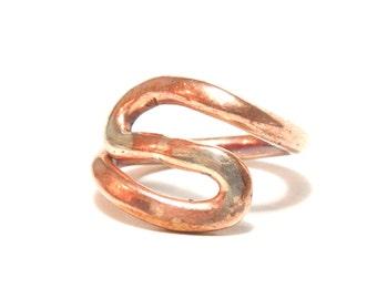 Copper Ring, Silver, Women, Men, teen, Size 6, Ready To Ship, Healing Metal