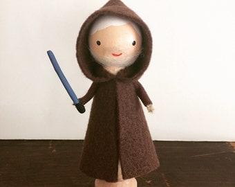 Obi Wan Kenobi Clothespin Doll - MADE TO ORDER