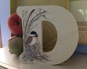 Wood Painted Letter D