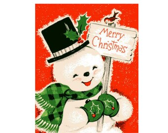 Vintage Original unused Greeting card  Merry Christmas And Happy New Year includes envelope