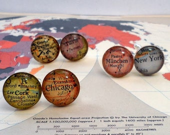 Custom Map Cufflinks, What is your special city or cities in the Heart