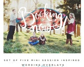 Mini Session Inspired Overlays (INSTANT DOWNLOAD)