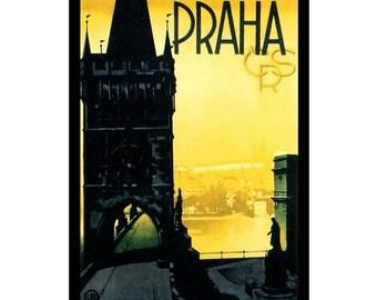 PRAGUE 1S- Handmade Leather Photo Album - Travel Art