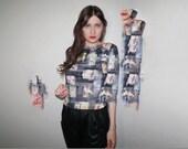 90s digital print cyber shirt size medium