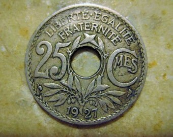 1927 France, 25 Centime Coin