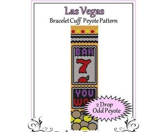 Bead Pattern Peyote(Bracelet Cuff)-Las Vegas