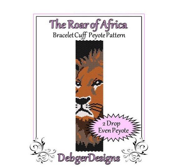 Bead Pattern Peyote(Bracelet Cuff)-The Roar of Africa
