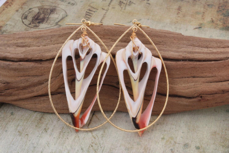 Hawaiian Jewelry Hawaii Jewelry Shell Earrings Beach Jewelry