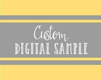 Custom Digital Sample Fee