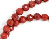 Red Jasper Beads - 6mm Faceted Round