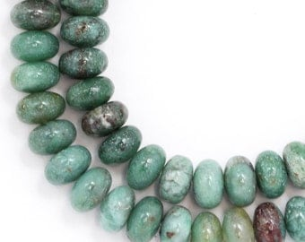 """African """"Jade"""" Beads - 6mm Rondelle - Limited Quantity"""