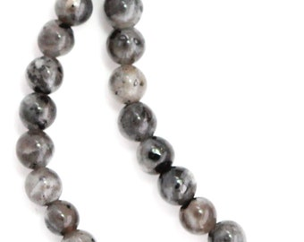 Larvikite Beads - 4mm Round - Full Strand