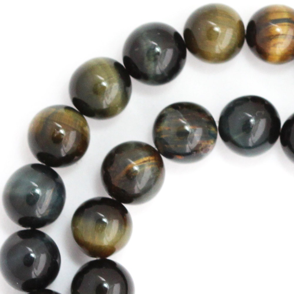 Tiger Eye Beads Strands, Round, 12mm, Hole: 1~2mm; about 16pcs/strand, 8