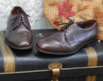 Awesome VINTAGE-- The FLORSHEIM Shoe ---Mens Rich Chocolate Dress Shoe----50S Mad Men--Size 12 D