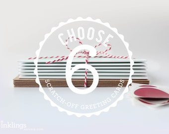 Choose 6 Scratch-off Greeting Cards // Mix and Match