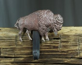 Buffalo Christmas Stocking Hanger,Holder-Forged Iron-Weighs 2 1/2 lbs.