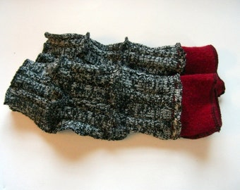 Arm Warmers, Fingerless Gloves with Thumb Holes