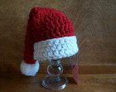 Clearance READY TO SHIP Santa Hat - Toddler size