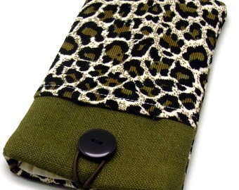 6P sale iPhone 6 plus sleeve, iPhone pouch, Samsung Galaxy S3, S4, Galaxy note, nexus, ipod classic touch sleeve - Leopard print