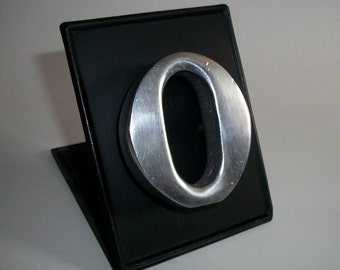 "Stainless Steel Refrigerator Magnet Lower Case Letter ""o"" Monogram Words For Your Fridge"