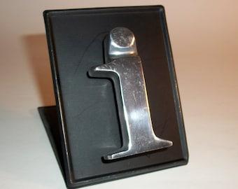 "Stainless Steel Refrigerator Magnet Letter Lower Case ""i"" Words For Your Fridge"