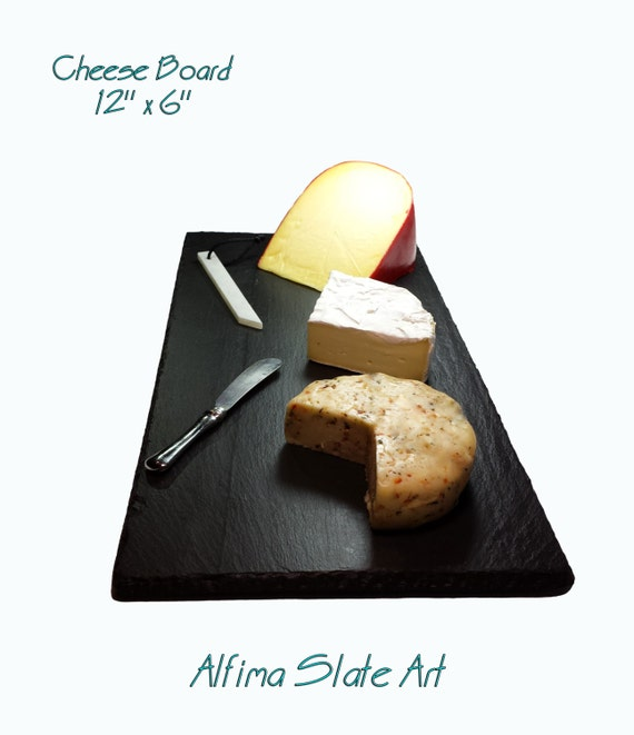 6 x 12  Slate Cheese Board with Soapstone Chalk