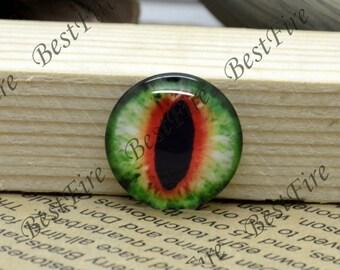 10mm,12mm,14mm,16mm,18mm,20mm,25mm,30mm Round Dragon eye Photo Glass Cabochons , finding beads,Photo Glass Cabochons  eye-20