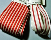 Striped ribbon in 5 yard lengths by May Arts French striped cotton