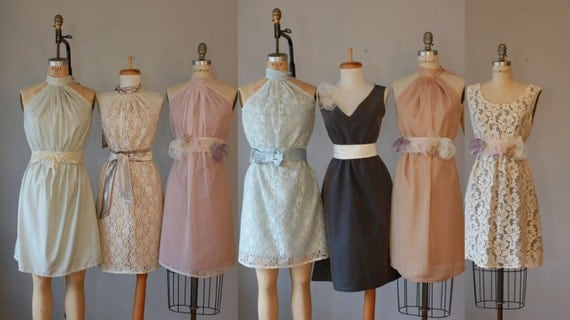 Mismatched Bridesmaid Dresses / Romantic / By AtelierSignature