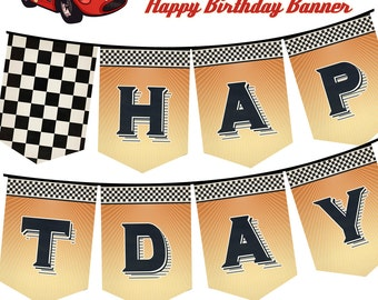 Race Car Bunting Etsy