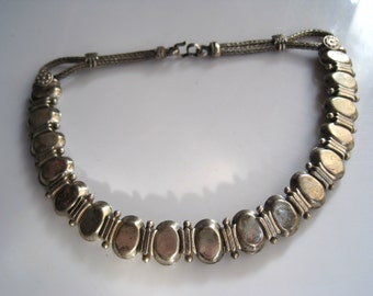 Vintage Indian Necklace - Tribal Silver Choker - Petite Size - Tribal Jewelry - Ethnic Jewelry - Indian Jewelry