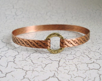 Copper Bangle Bracelet Free US Shipping