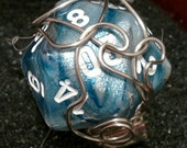 Your choice of one d20 adjustable wire wrapped ring