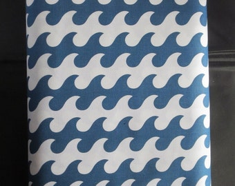 Riley Blake Fly Aweigh Waves - Blue