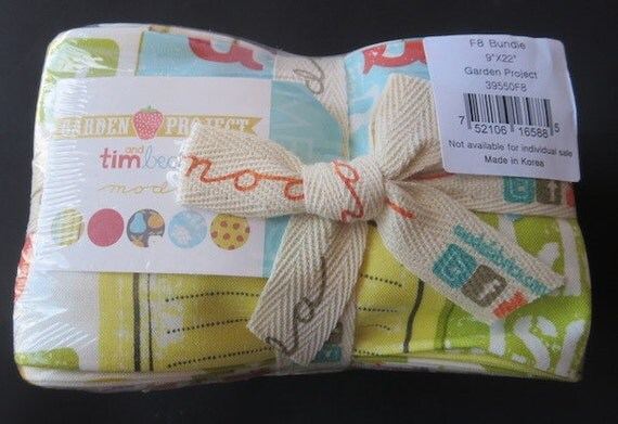 Moda Fat Eighth Bundle - Garden Project by Tim & Beck - Shipping In The US 3.99 For One Week!