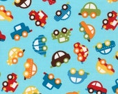 Cars in Bermuda (aak-15133-237) - READY SET GO by Anne Kelle - Robert Kaufman Fabric - 1 yard
