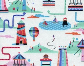 Mini Carnival in White - Fun-C2942 - Timeless Treasures Fabric - By the Yard