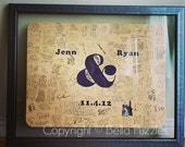 180 pc Custom Wedding Guest Book Puzzle, guestbook alternative, wedding AMPERSAND puzzle guest book, Bella Puzzles™ rustic bohemian wedding