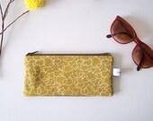 Fabric purse pencil glases case GEO BLA BLA design pouch