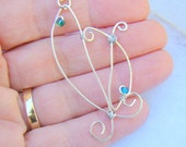 Pisces Fish Pendant Necklace // Wire Wrap // Sterling Silver Unisex Jewelry // February March Birthday Gift - BJ0001