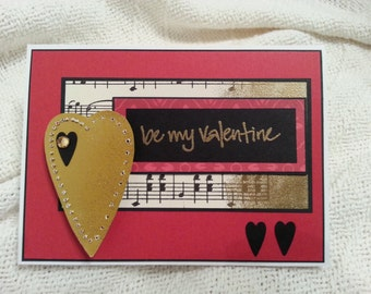 Be My Valentine Card with Century Old Paper