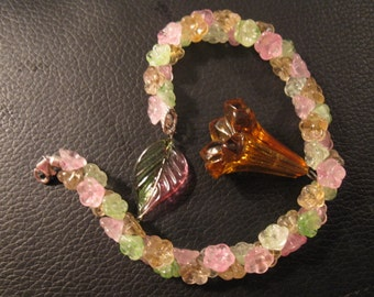 Vintage glass garden for your wrist