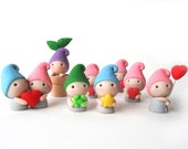 Adorable Polymer Clay Figure - Gnome / Elf / Dwarf / Fairy