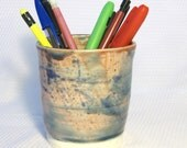 Ceramic Abstract Painting Pencil Holder - Change Jar -