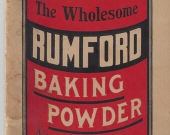 Rumford Baking Powder Grocery List Vintage Journal, 1920s