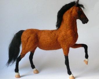 Needle Felted Horse /OOAK horse sculpture / Custom Miniature Sculpture of your horse/Equine gift