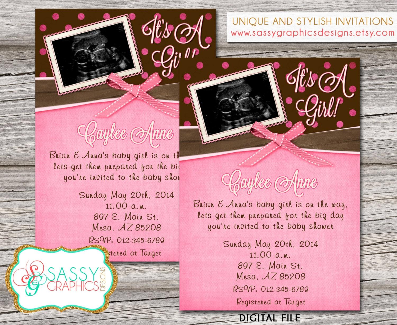 Ultrasound Baby Shower Invitations | wblqual.com