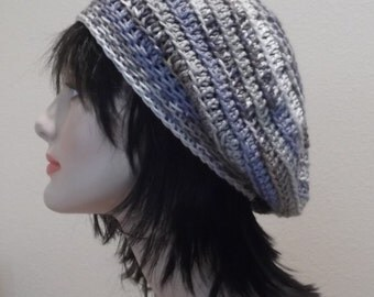 Gray Slouchy Hat Brown Slouchy Beanie Cold Weather Accessory Trendy Hat