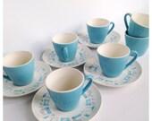 Blue Heaven Teacups set of 12