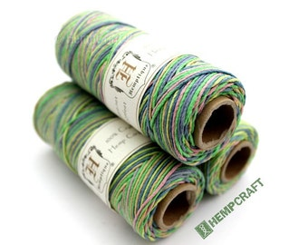 1mm Hemp Twine, Easter Basket, Multicolored Green, Pink, Blue and Yellow High Quality Hemp Cord